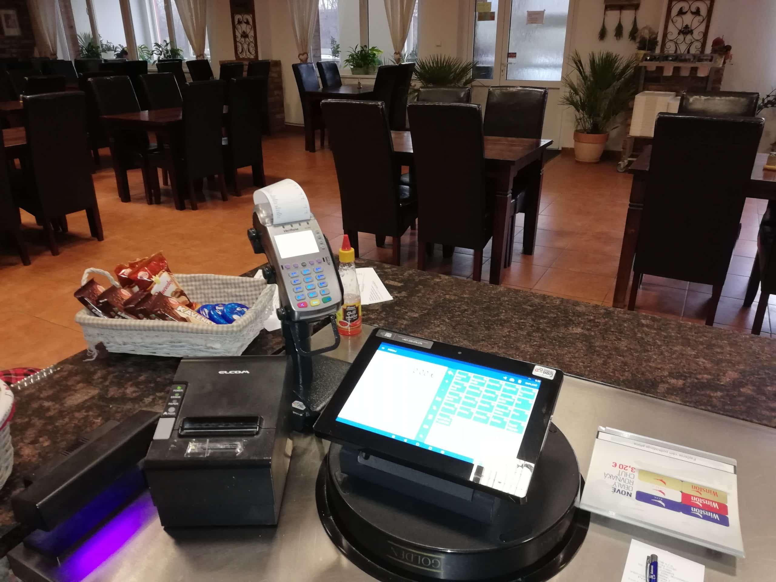 pokladni sestava FiskalPRO v restauraci