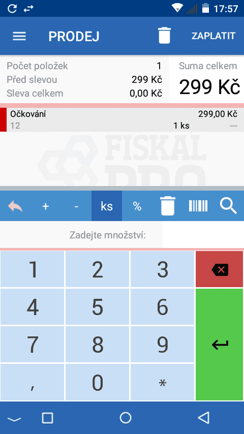 fiskalpro aplikace prodej